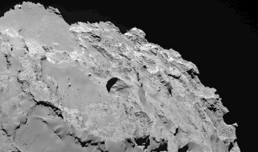The most active pit, known as Seth 01, observed by Rosetta on the surface of the comet 67P/Churyumov-Gerasimenko