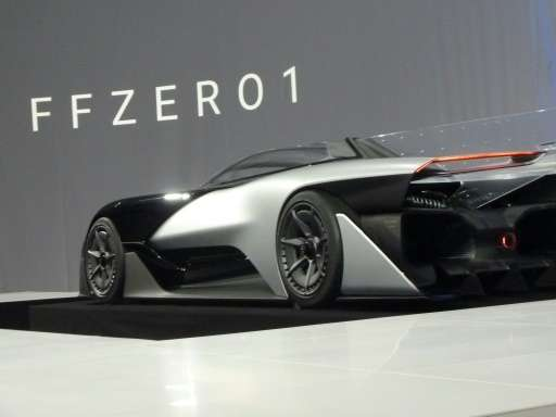 The new concept electric car FFZERO1 is unveiled by California startup Faraday Future during the Consumer Electronics Show (CES)