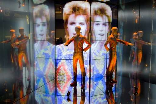 """The """"Starman"""" costume from David Bowie's appearance on """"Top of the Pops"""" in 1972"""