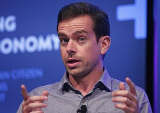 """Twitter Chairman Jack Dorsey, seen on September 17, 2013 in Detroit, Michigan, confirmed that some top managers """"have chose"""