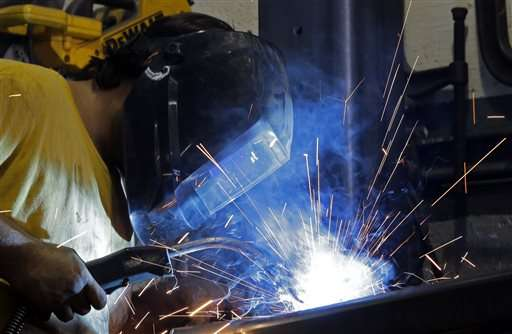 US factory output picks up in February for 2nd month