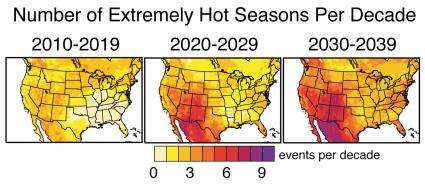 Heat waves could be commonplace in the US by 2039, Stanford study finds