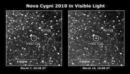 Fermi detects gamma-rays from exploding nova