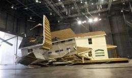 2 houses put through hurricane-force wind test