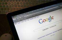 The internet homepage of the search engine website Google