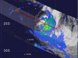 NASA satellite sees rainfall in ebbing Edzani