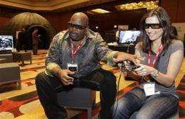 3-D video gaming aspires to become spectacle (AP)