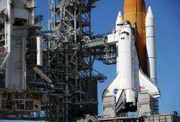 The space shuttle Discovery
