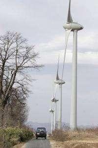 Wind turbines at Japan's largest wind farm