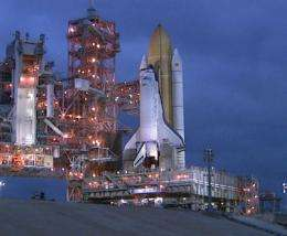 Space Shuttle Discovery Rolls Out to Launch Pad