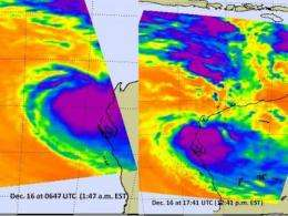 NASA satellite tracks soaking System 91S in western Australia
