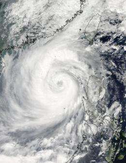 3 NASA satellites capture Typhoon Megi strengthening again