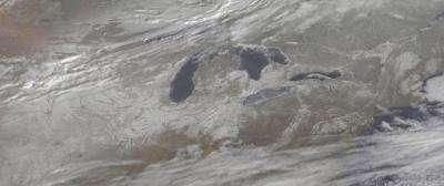 Snowy U.S. panorama caught by satellite