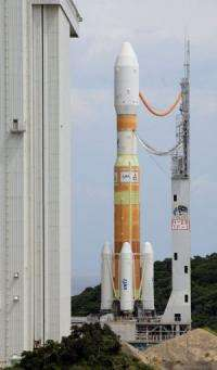 File photo shows a Japanese space rocket at the Tanegashima Space Centre in Kagoshima prefecture