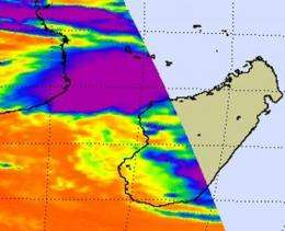 NASA Satellite sees most of Cyclone Bingiza's rainfall over Mozambique Channel