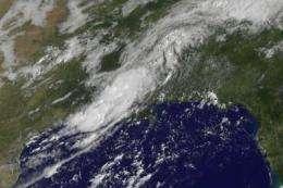 NASA satellites see TD5's remnants still soaking Louisiana and Mississippi