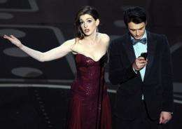 Actors James Franco and Anne Hathaway present the 83rd Annual Academy Awards