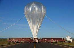 A giant NASA science balloon crashed during take-off in Australia