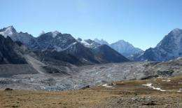 A glacier in the Everest region