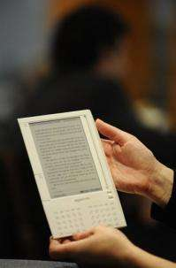 An Amazon e-reader device the