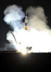 A Russian Soyuz TMA-19 rocket blasts off from Kazakhstan's Russian-leased Baikonur cosmodrome in June