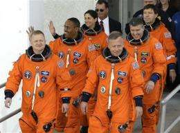 Astronauts board shuttle Discovery for last flight (AP)