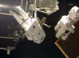 Astronauts relax, take in views after 2 spacewalks (AP)