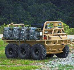Autonomous vehicle to demonstrate portable battery charging for dismounted soldiers