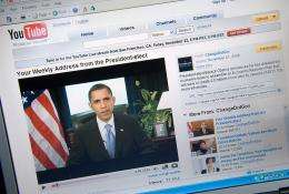 A video of US President Barack Obama