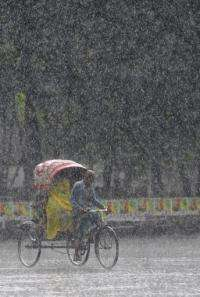 Bangladesh received 139.5 centimeters (55 inches) of rain this monsoon