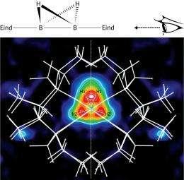 Bulky molecules trap boron compounds into a never-before-seen structural arrangement
