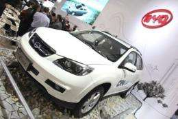 Chinese automaker BYD's hybrid SUV