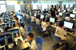 Chinese schoolchildren have widespread access to the Internet, a new study says