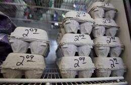 Egg recall tied to salmonella grows to 380 million (AP)