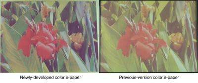 Fujitsu Dramatically Enhances Color Electronic Paper Functionality