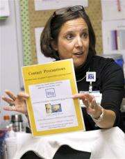 Germ inspector helps prevent hospital infections (AP)