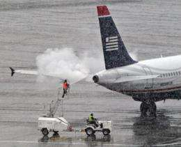 Getting ice, frost off planes problematic