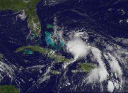 GOES-13 sees Tropical Depression 3 form in the Atlantic: Bahamas, Florida under warnings