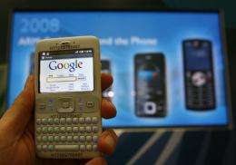 Google's software platform for mobile phones entitled 'Android'