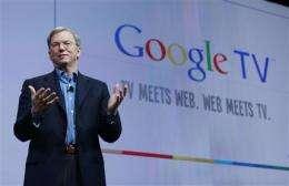 Google teams with Sony, Intel on 'smart' Web TV (AP)