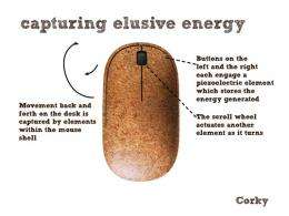 How Corky captures energy. (Image via Inhabitat)