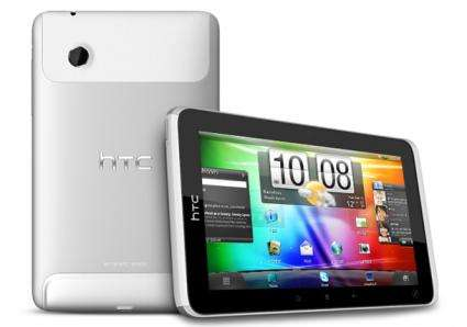 HTC unveils tablet, phones with Facebook button
