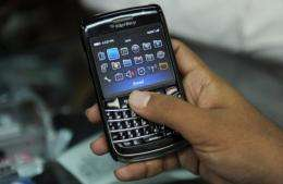 Indian agencies will be able to monitor the BlackBerry's messenger and public email services but not corporate emails