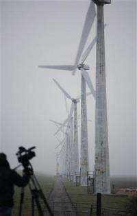 In Holland, land of windmills, flap over wind farm (AP)
