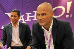 Irv Henderson (L), Yahoo's vice president for product management, and Matthias Kunze, Asia-Pac managing director