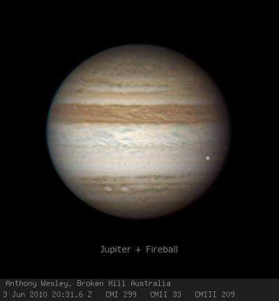 Amateur astronomer spots another Jupiter strike