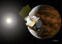Japan probe overshoots Venus, heads toward sun (AP)