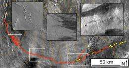 Lava likely made river-like channel on Mars