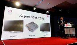 LG will increasingly bet on 3D TV as it sees more growth potential in the segment