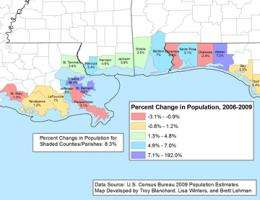 LSU group develops maps charting demographics of the oil-spill region